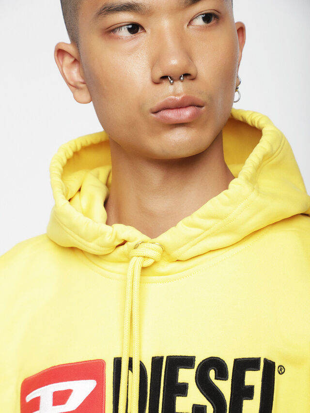 Diesel - S-DIVISION, Yellow - Sweatshirts - Image 3