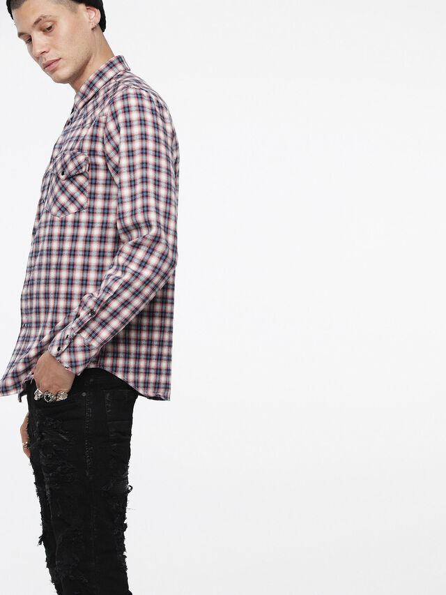 Diesel - S-EAST-LONG-B, Multicolor/White - Shirts - Image 3