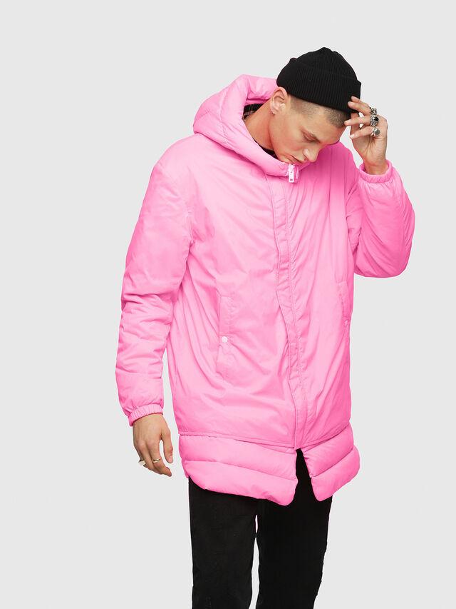 Diesel - W-SUN-REV-A, Pink Fluo - Winter Jackets - Image 1