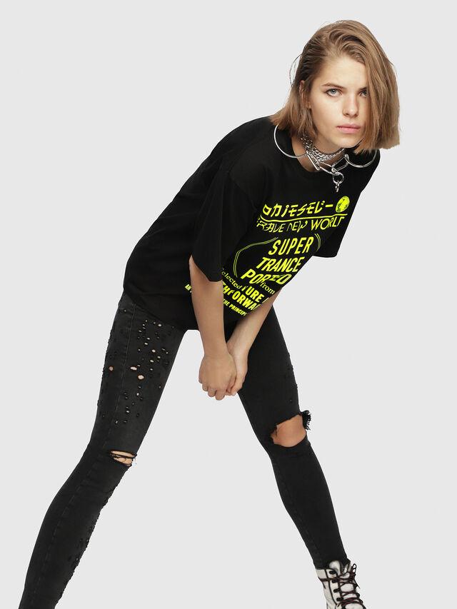 Diesel - T-JACKY-H, Black/Yellow - T-Shirts - Image 3