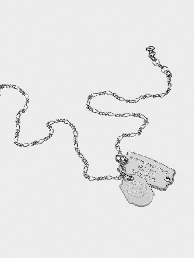 Diesel - DX1132, Silver - Necklaces - Image 2