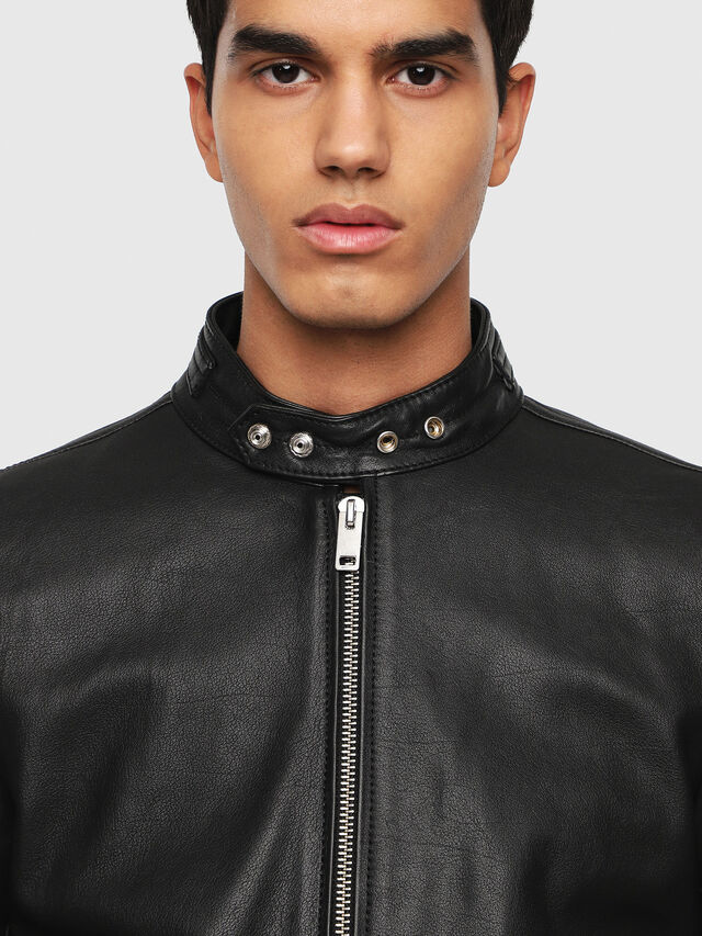 Diesel - L-RUSHIS, Black Leather - Leather jackets - Image 3
