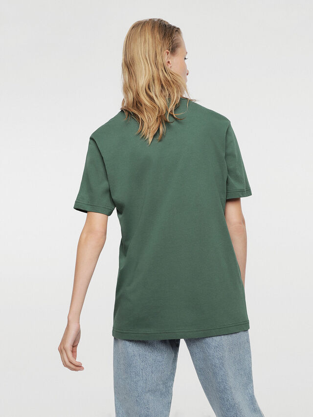 Diesel - HC-T-JUST-DIVISION, Bottle Green - T-Shirts - Image 5