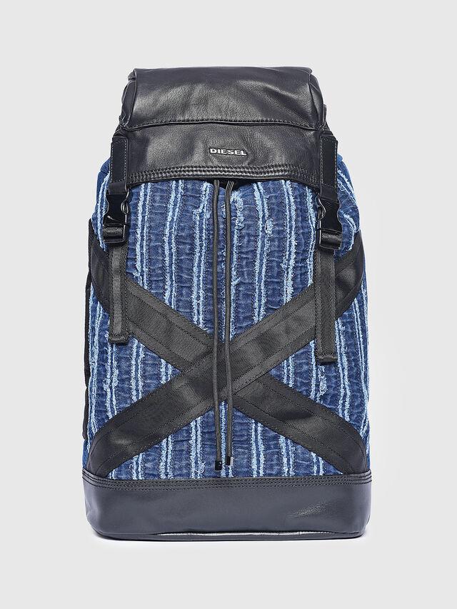 Diesel - D-HENJUKU BACK, Blue Jeans - Backpacks - Image 1