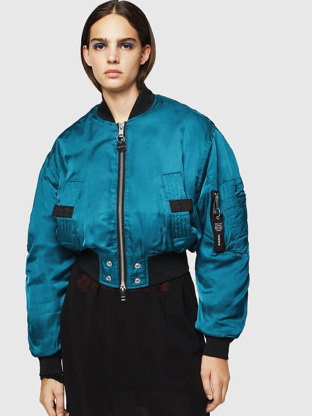 Diesel - W-BRESHA, Blue Marine - Winter Jackets - Image 1