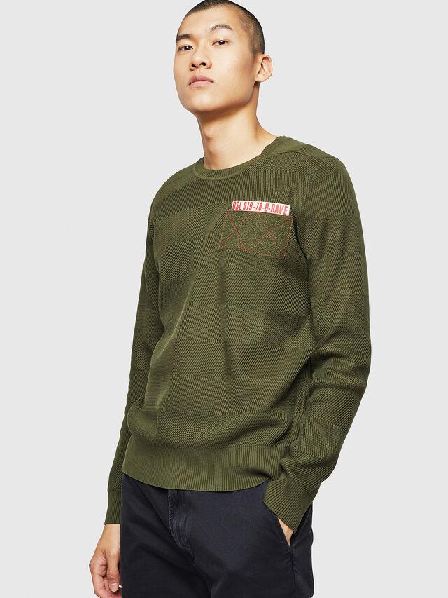 Diesel - K-STLE, Military Green - Sweaters - Image 1