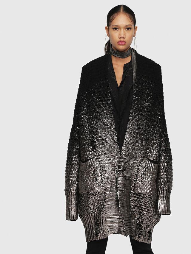 Diesel - M-MIKO, Black/Silver - Sweaters - Image 1