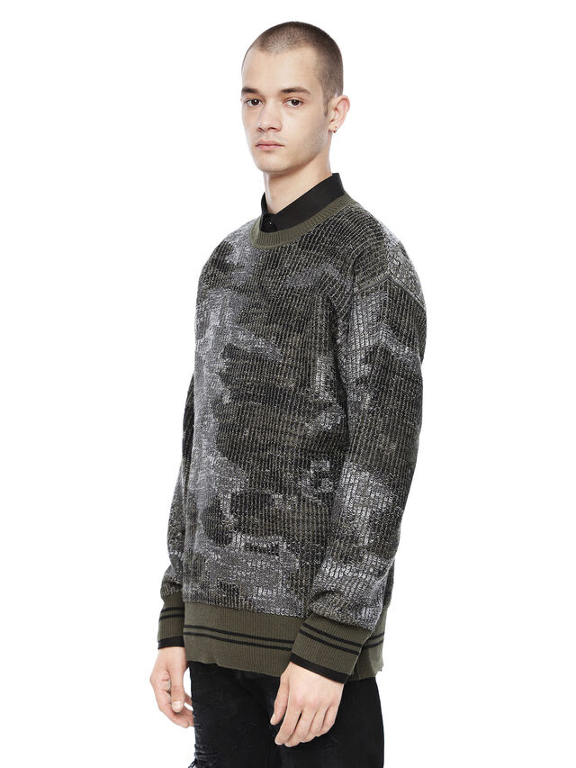 Diesel - KIPSILON, Military Green - Sweaters - Image 1