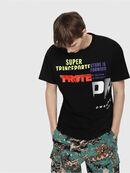 T-WALLACE-CUT, Black - T-Shirts