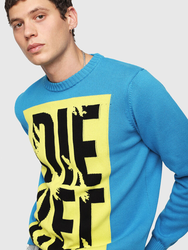 Diesel - K-MAXIS-A, Blue/Yellow - Sweaters - Image 3