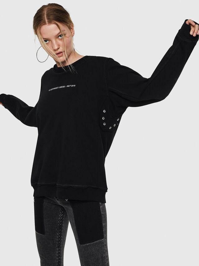 Diesel - F-LYANY-F, Black - Sweatshirts - Image 6