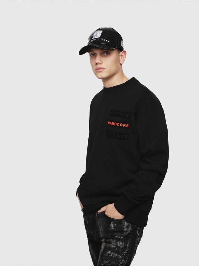 Diesel - S-BAY-YE, Black - Sweatshirts - Image 1