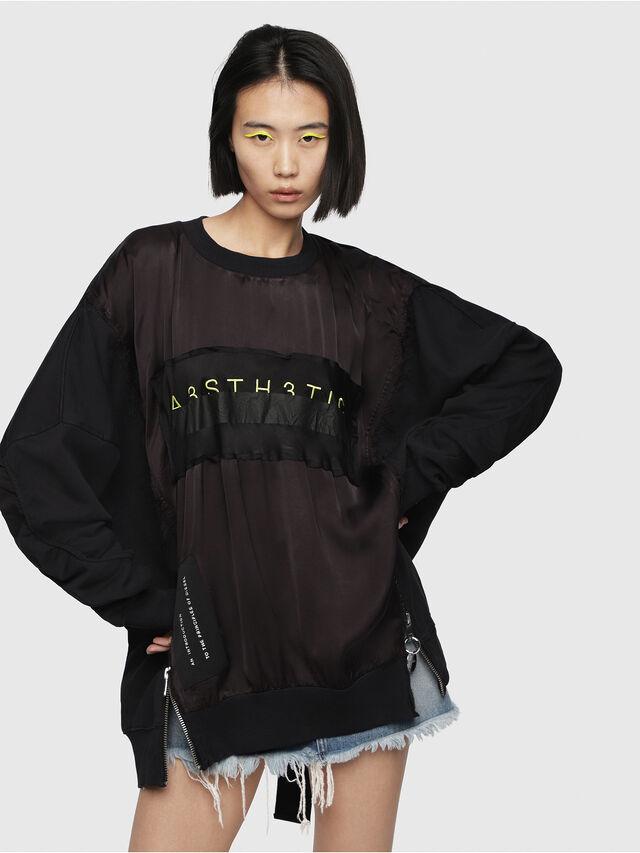 Diesel - F-TARAP-A, Black - Sweatshirts - Image 1