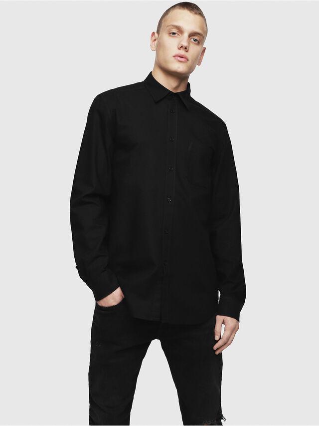 Diesel - S-MOI-R, Black - Shirts - Image 1