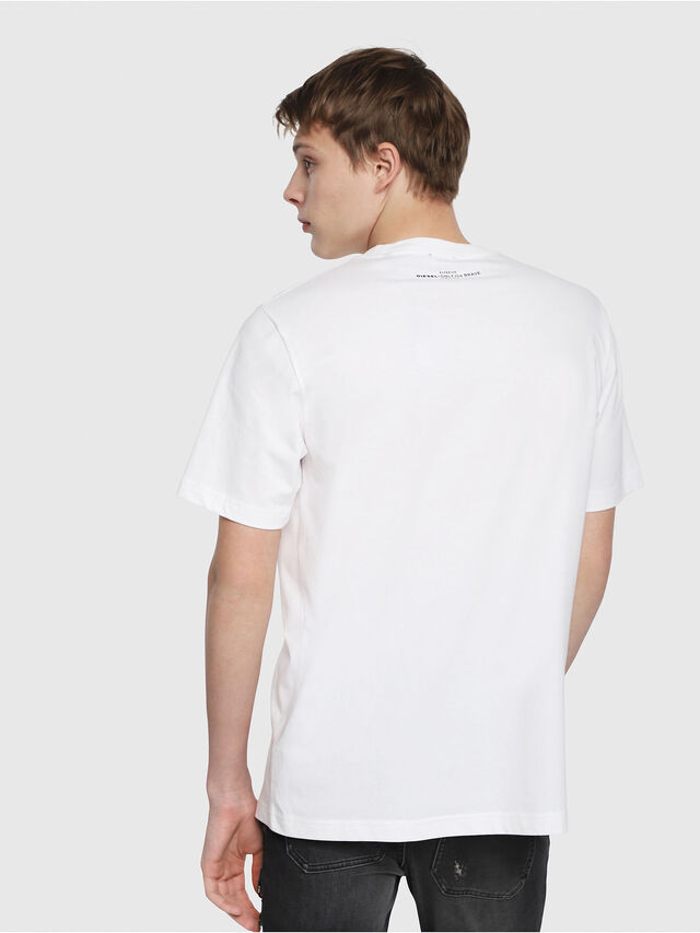 Diesel - T-JUST-YB, White - T-Shirts - Image 2
