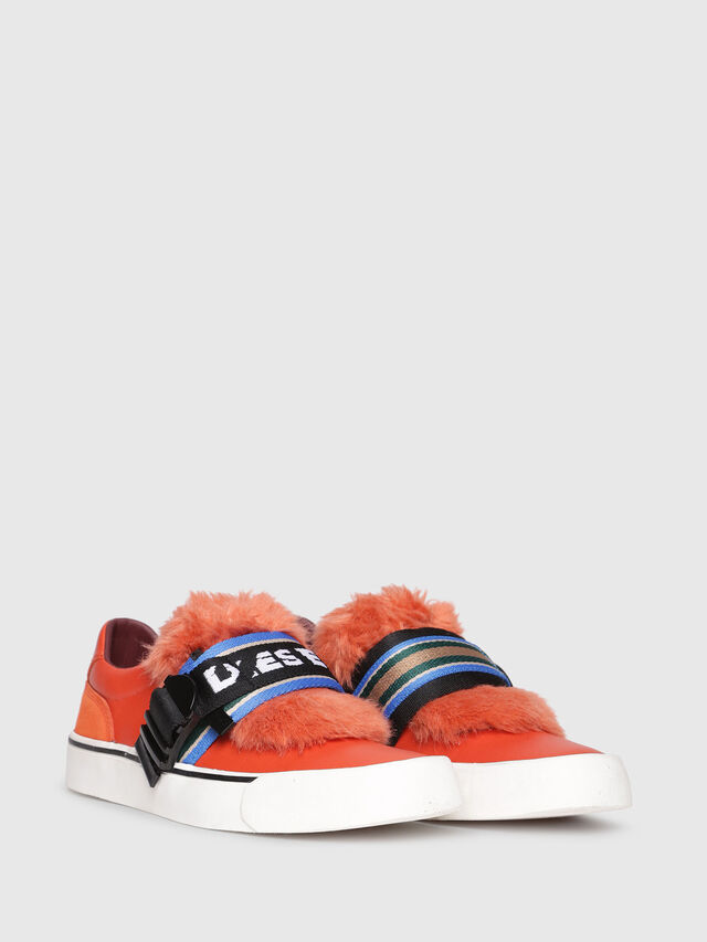 Diesel - S-FLIP LOW BUCKLE W, Orange - Sneakers - Image 2