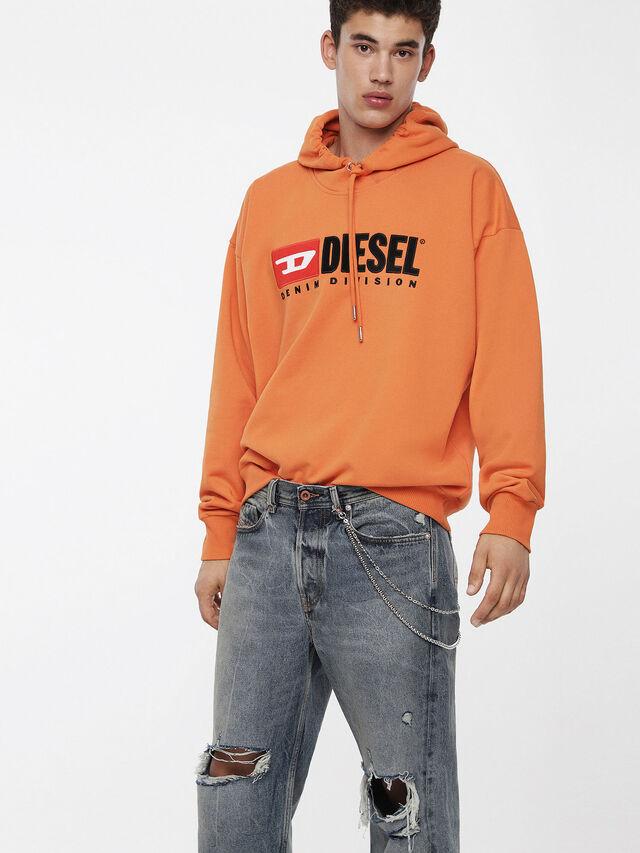 Diesel - S-DIVISION, Orange - Sweatshirts - Image 1