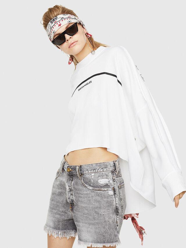Diesel - F-ZOIE, White - Sweatshirts - Image 3