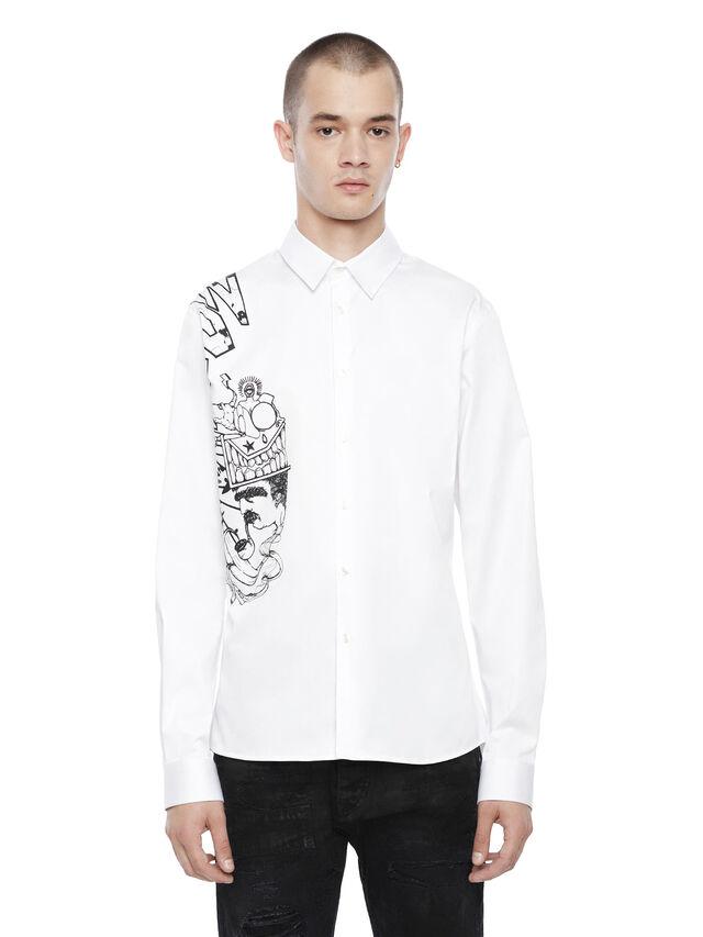 Diesel - SERIOUS-HYBRIDCOW, White - Shirts - Image 1