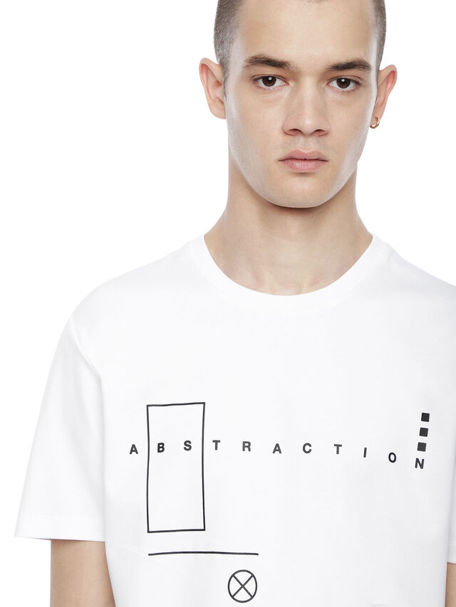 Diesel - TY-ABSTRACTION, White - T-Shirts - Image 5
