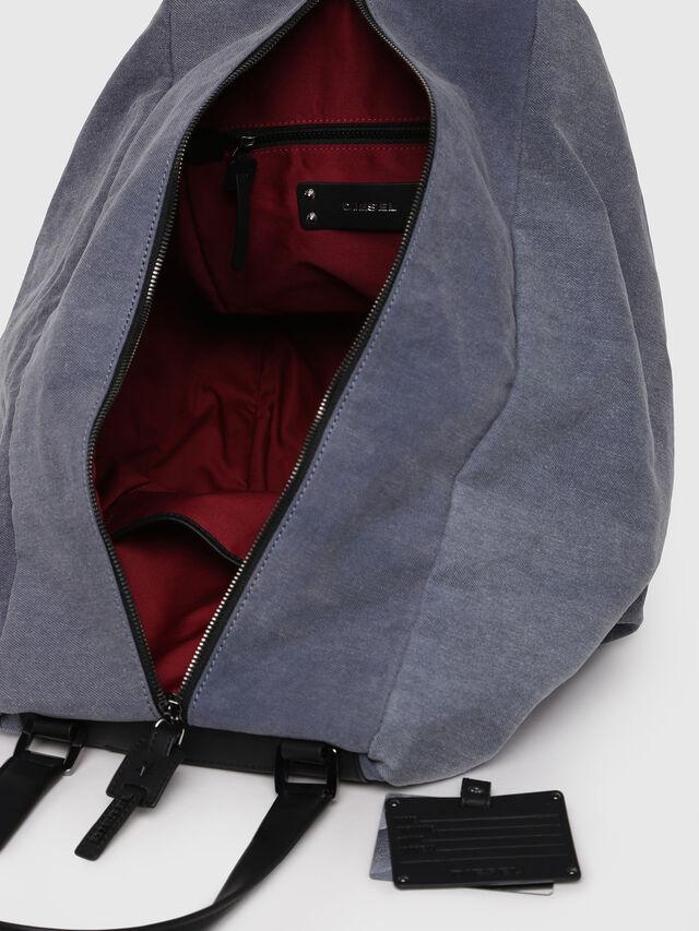 Diesel - D-SCRATCH SHOPPER, Blue - Shopping and Shoulder Bags - Image 4