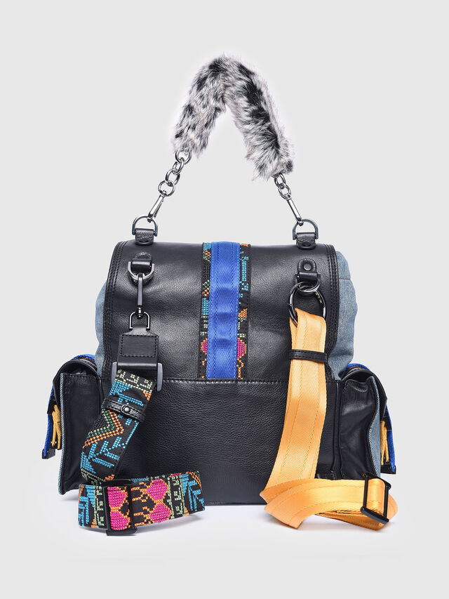Diesel - MISS-MATCH BACKPACK, Blue Jeans - Backpacks - Image 2