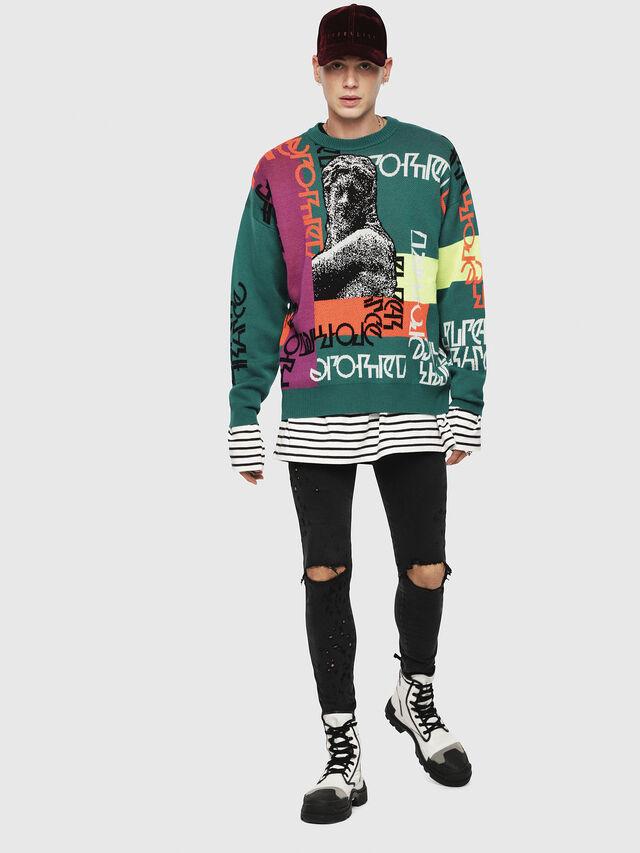 Diesel - K-NOX, Dark Green - Sweaters - Image 4