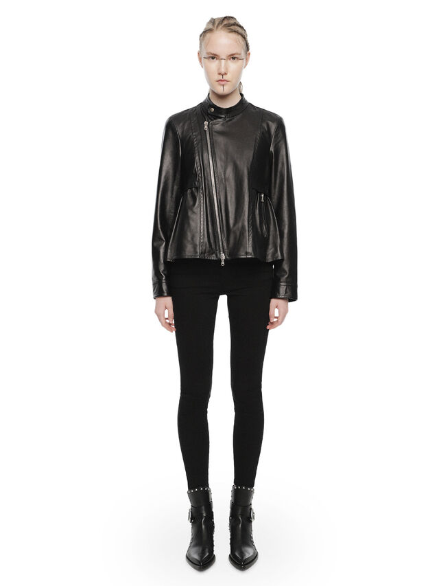 Diesel - LIKY, Black Leather - Leather jackets - Image 4