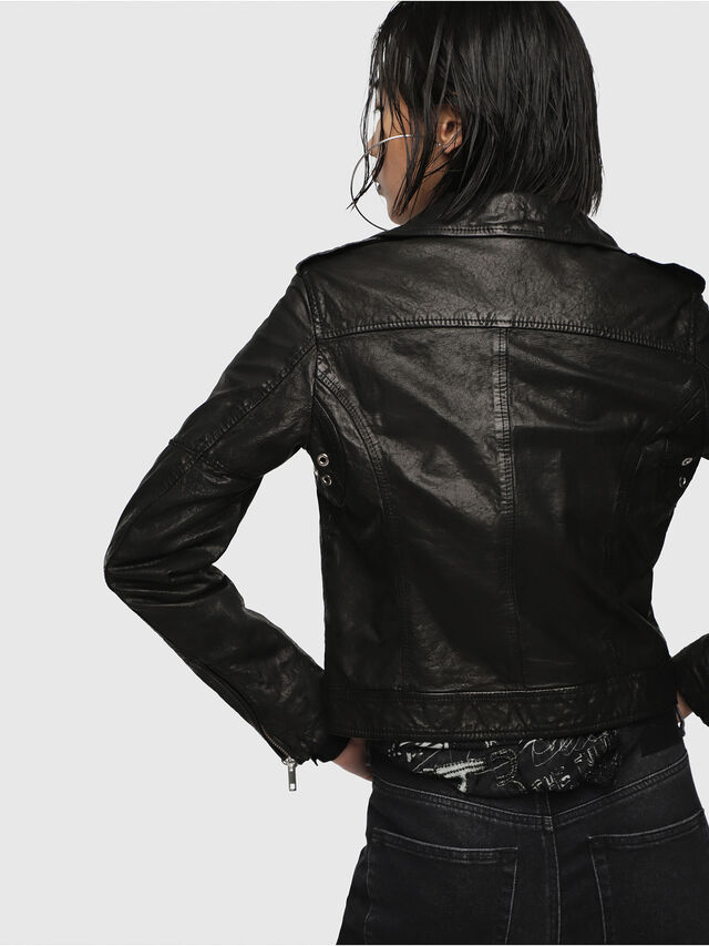 Diesel - L-SERY, Black Leather - Leather jackets - Image 2
