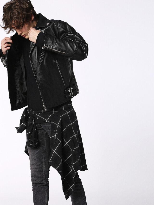 Diesel - L-KRAMPS, Black - Leather jackets - Image 3