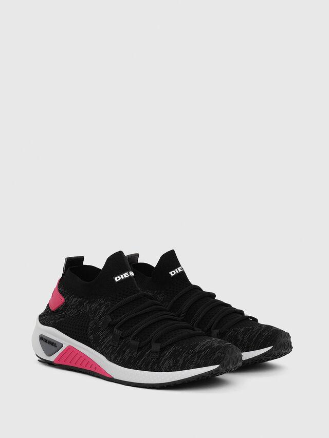 Diesel - S-KB ATHL LACE W, Black/Pink - Sneakers - Image 2