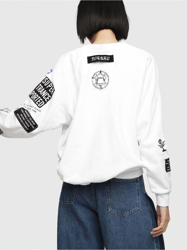 Diesel - F-JUSTY, White - Sweatshirts - Image 2
