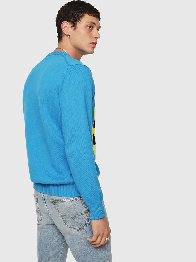 Diesel - K-MAXIS-A, Blue/Yellow - Sweaters - Image 2