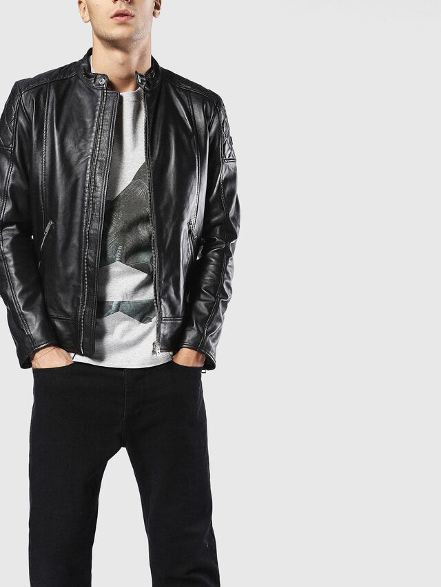 Diesel - L-MARTON, Black - Leather jackets - Image 3