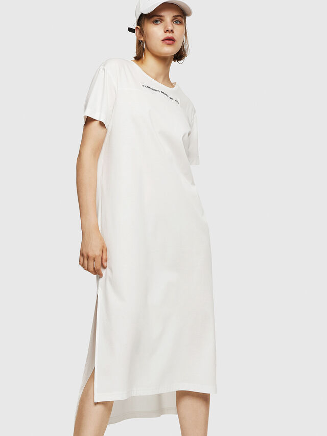Diesel - D-FELIX-LONG, White - Dresses - Image 1