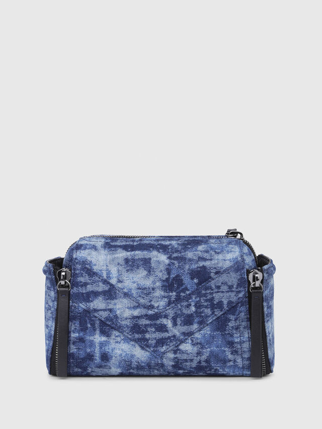 Diesel - LE-ZIPPER CROSSBODY, Blue/White - Crossbody Bags - Image 2
