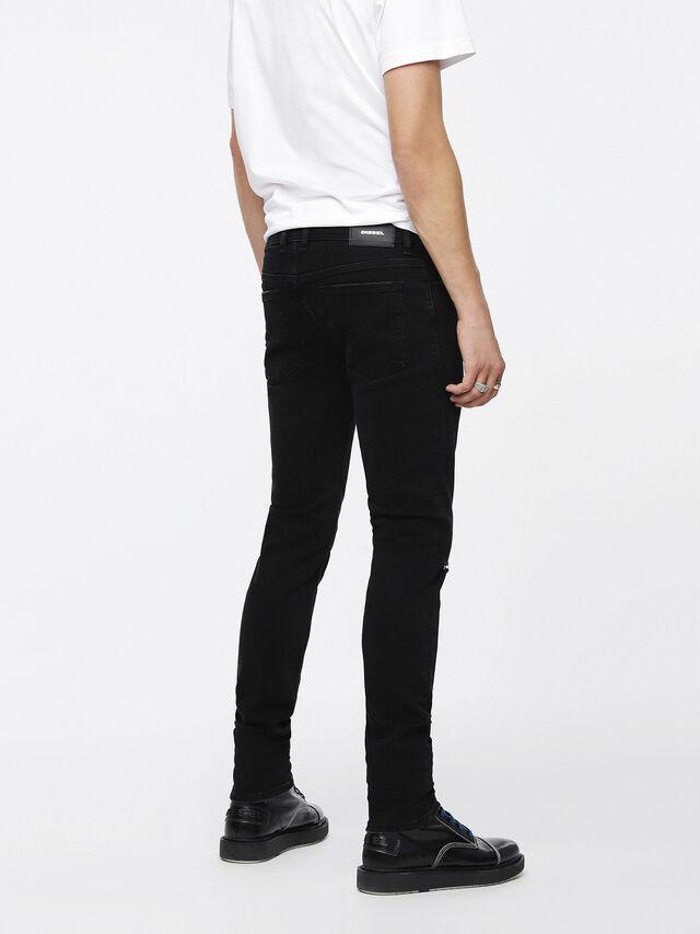 Diesel - Sleenker 084ZN, Black/Dark Grey - Jeans - Image 2