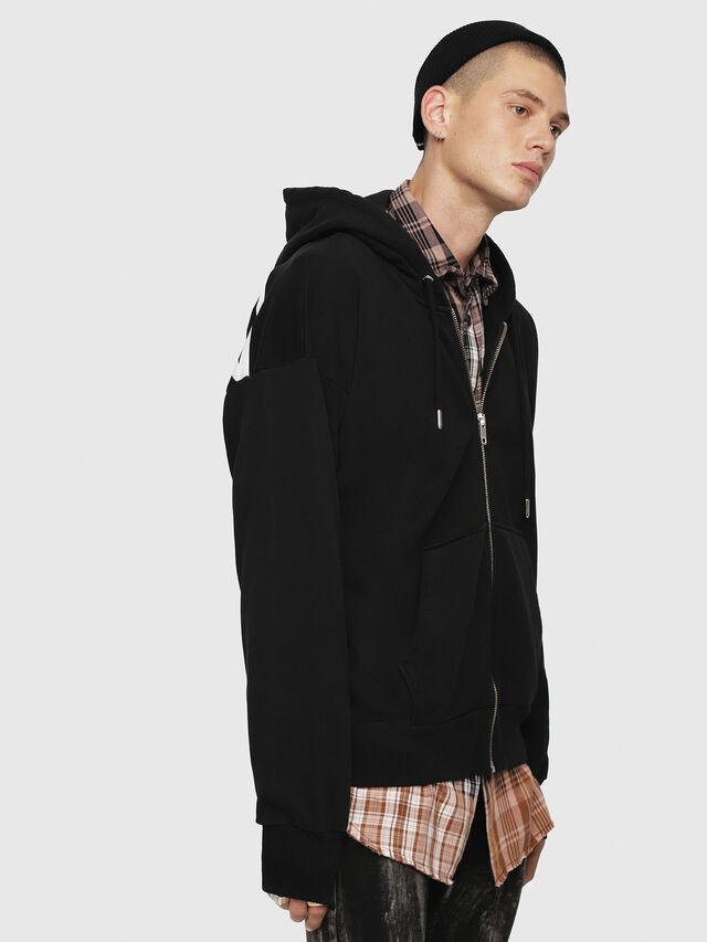 Diesel - S-ALBY-ZIP-YB, Black - Sweatshirts - Image 3