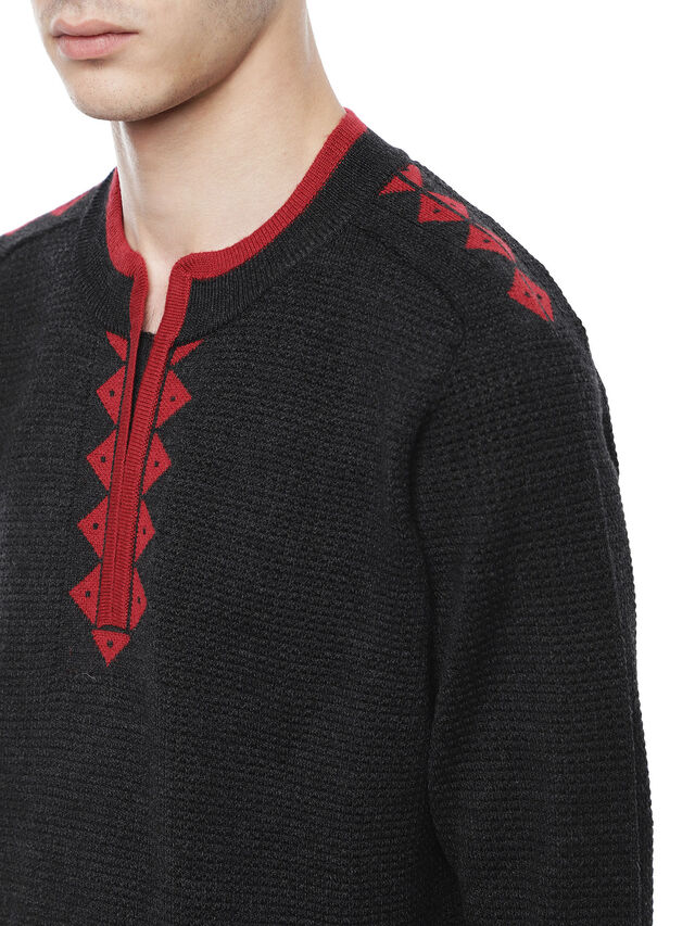 Diesel - KIVINT, Black/Red - Sweaters - Image 3