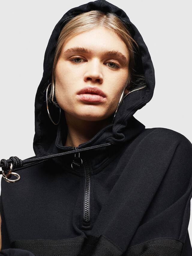 Diesel - F-AVAL, Black - Sweatshirts - Image 5
