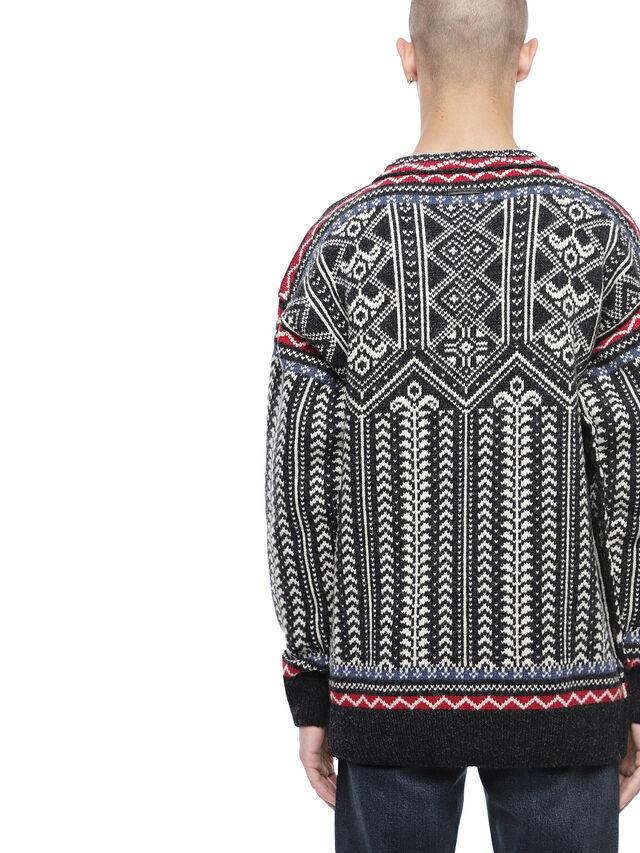 Diesel - KETLAND, Black/White - Sweaters - Image 2