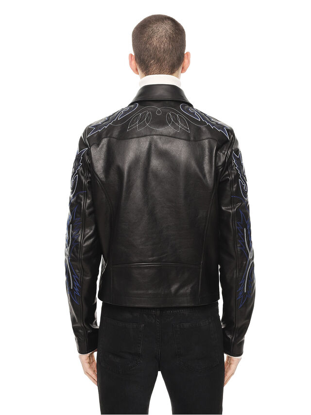 Diesel - LITEX, Black - Leather jackets - Image 2