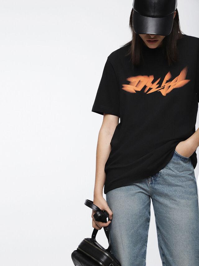 Diesel - T-JUST-XK-FL, Black - T-Shirts - Image 1