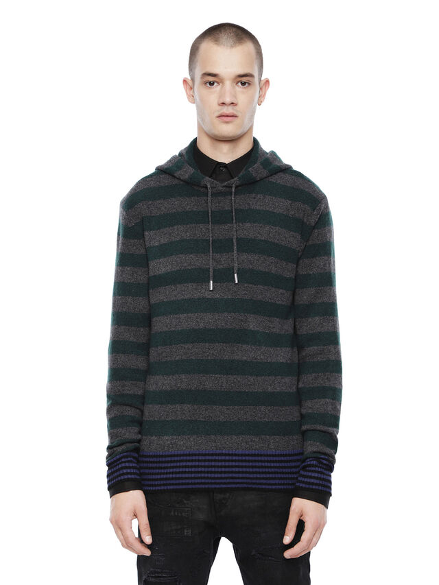 Diesel - KARCE-HOOD, Green - Sweaters - Image 1