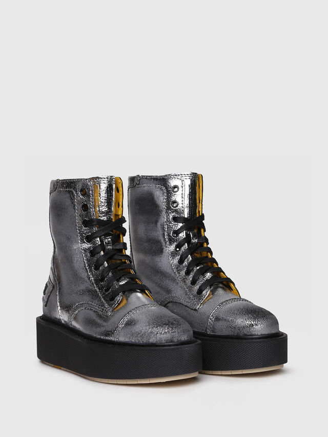 Diesel - D-CAGE HB, Silver - Ankle Boots - Image 2