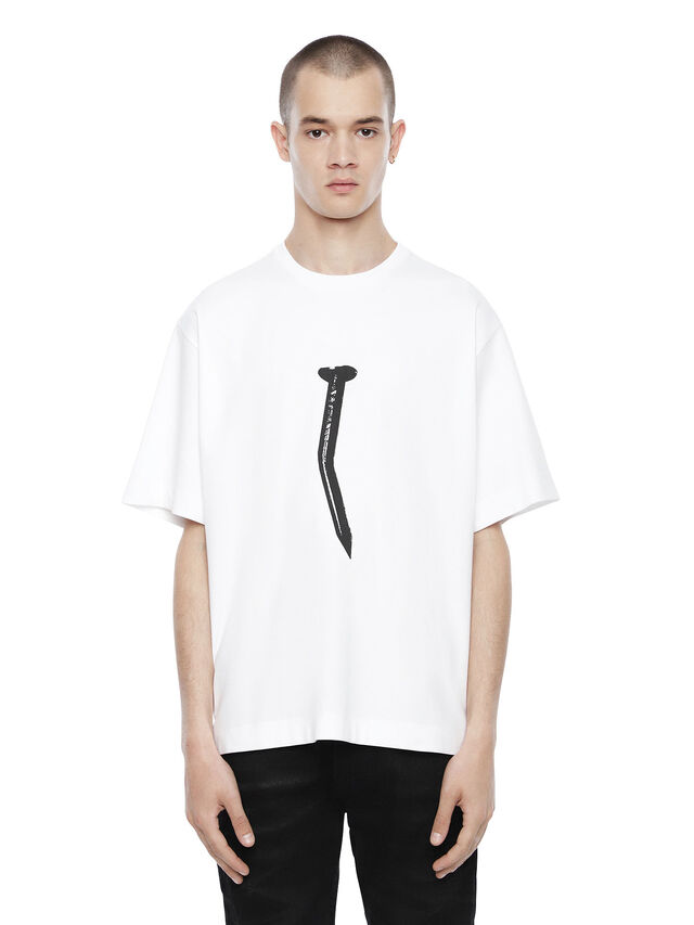 Diesel - TEORIAL-NAIL, White - T-Shirts - Image 1