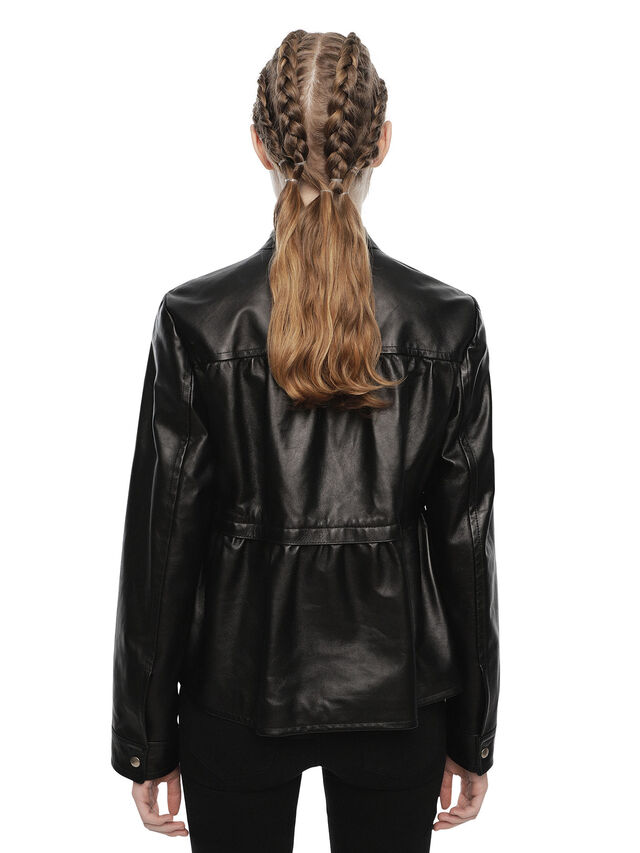 Diesel - LIKY, Black Leather - Leather jackets - Image 2