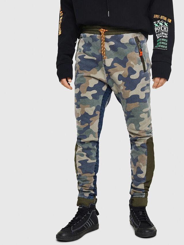 Diesel - D-Eeley JoggJeans 0GAUU, Green Camouflage - Jeans - Image 1