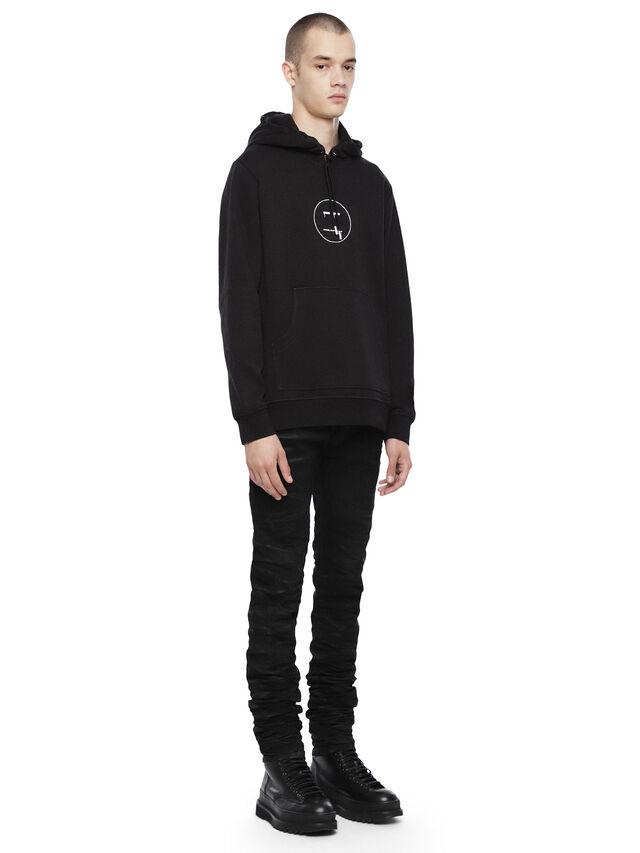 Diesel - SNEILBOOD-FACE, Black - Sweatshirts - Image 4
