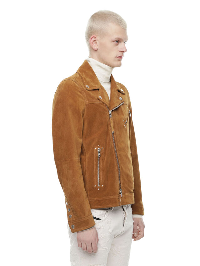 Diesel - LASKAI, Brown/Beige - Leather jackets - Image 3